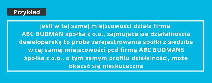 przykład firma spółki zo.o.